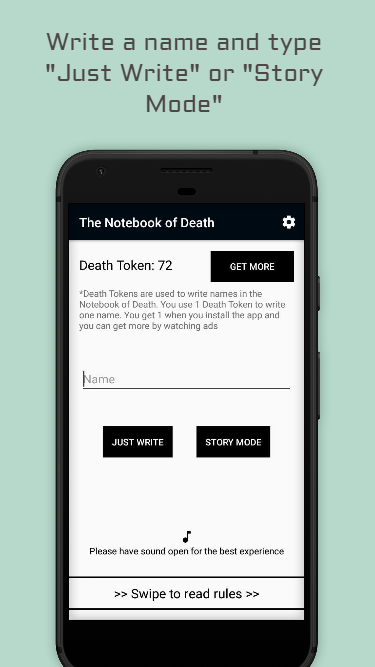 The Notebook of Death | A Death Note inspired app