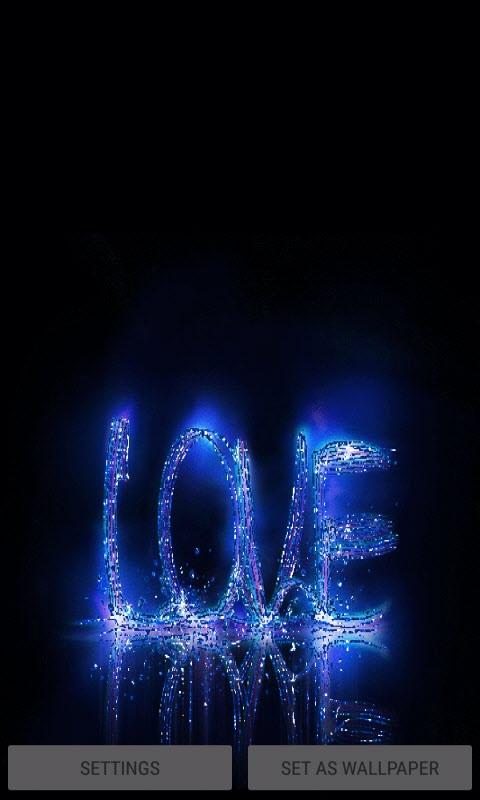 Blue Love Live Wallpaper