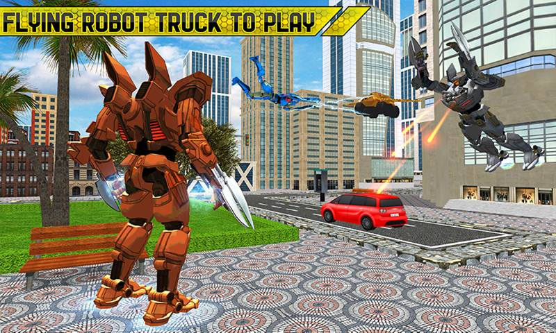 Flying Robot Truck: Real Transforming