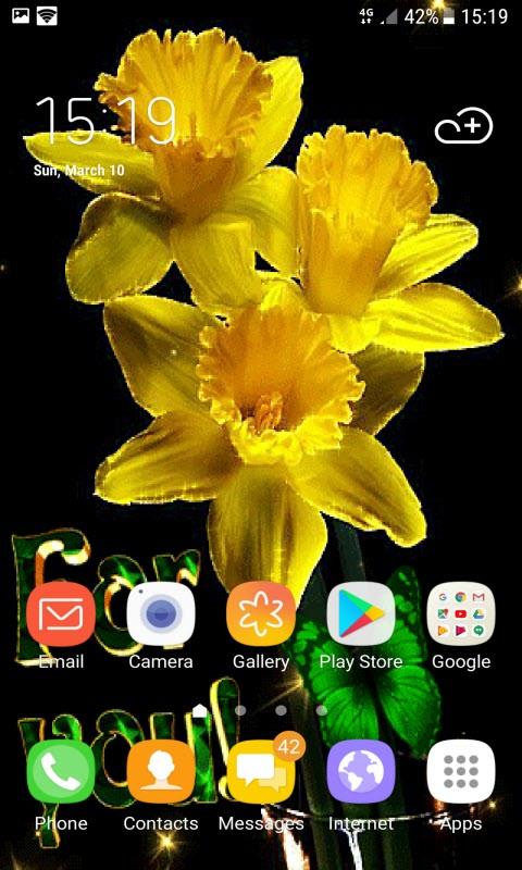 Yellow Magic Flowers LWP