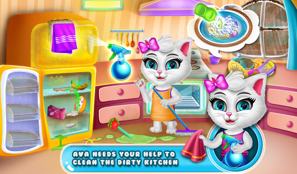Ava's Kitty Pet Daycare Game Part1