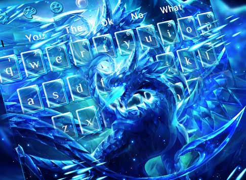 Blazing Blue Dragon Keyboard Theme
