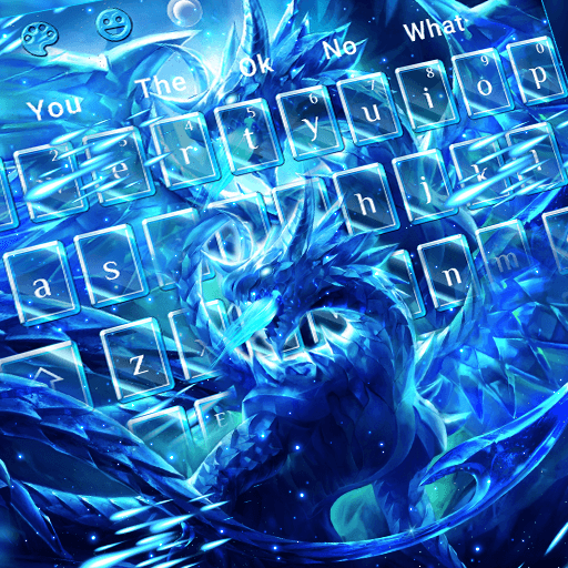 Blazing Blue Dragon Keyboard Theme