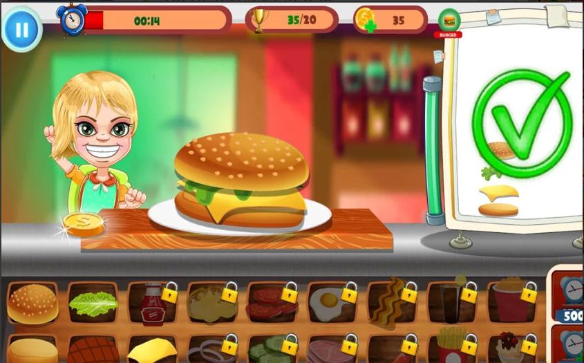Burger Cooking Game : Burger Food Maker Shop 2019