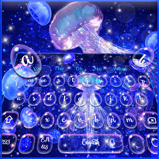 Galaxy Hologram Keyboard Theme