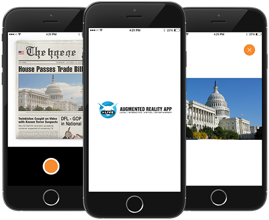 Live Augmented Reality App For Newspaper