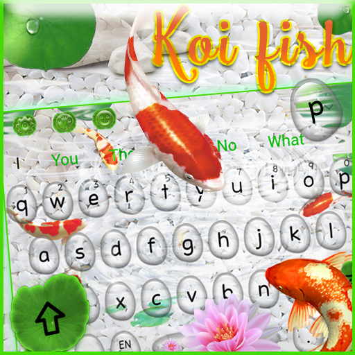 Live Cute Koi Fish Keyboard Theme