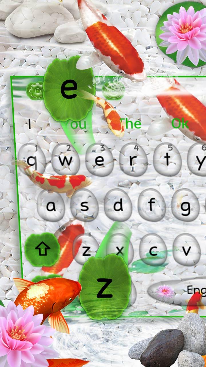 Live Cute Koi Fish Keyboard Theme