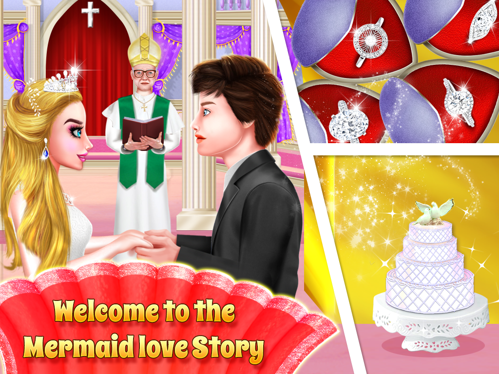 Mermaid & Prince Rescue Love Crush Story Game