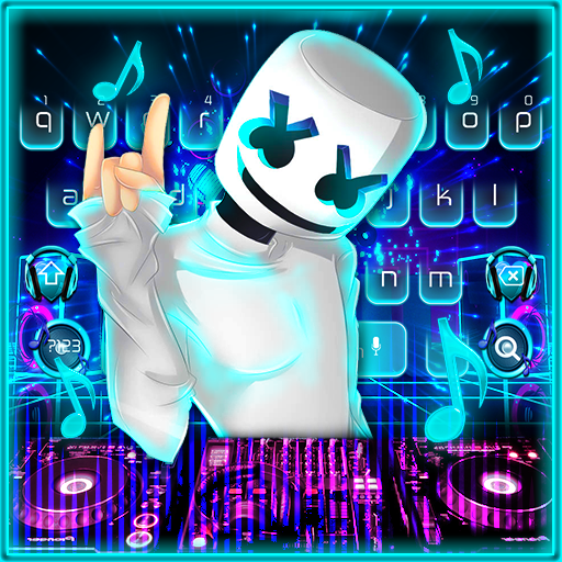 Neon DJ Music Keyboard Theme