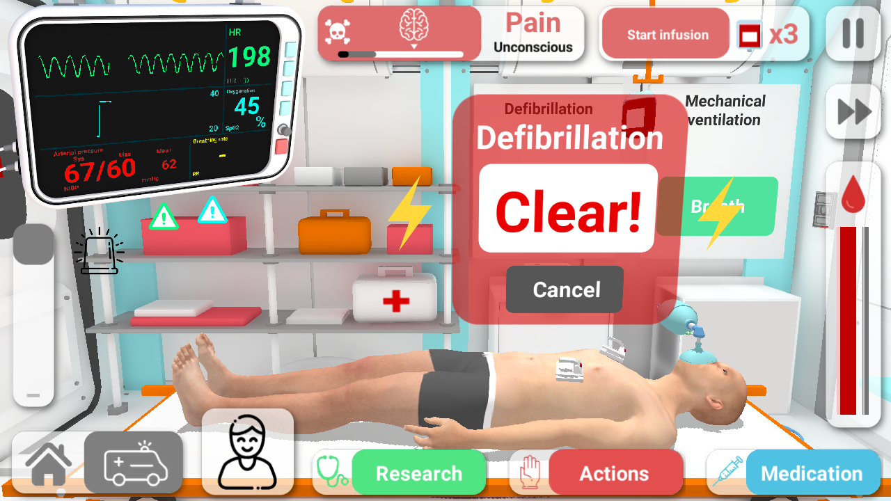 Reanimation inc: 3D Medical Emergency Simulator