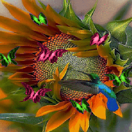 Sunflower Butterflies LWP