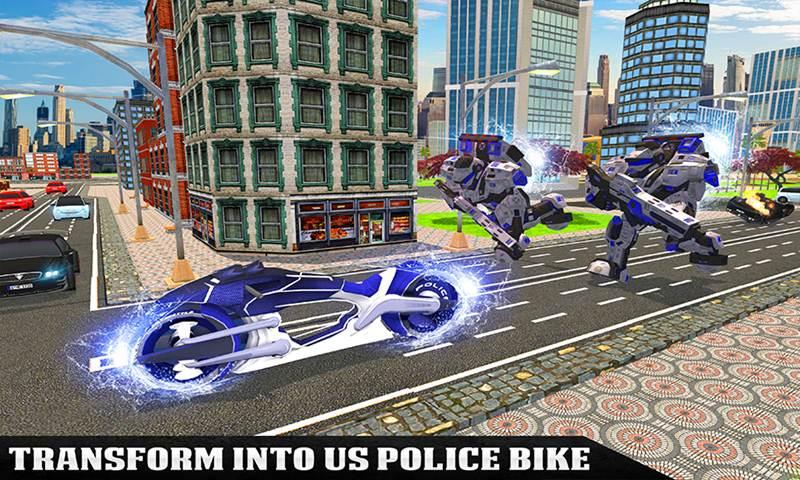 US Police Flying Robot Bike Survival