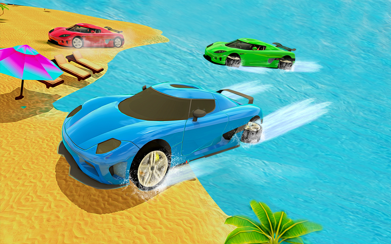 Water Surfer Car Racer