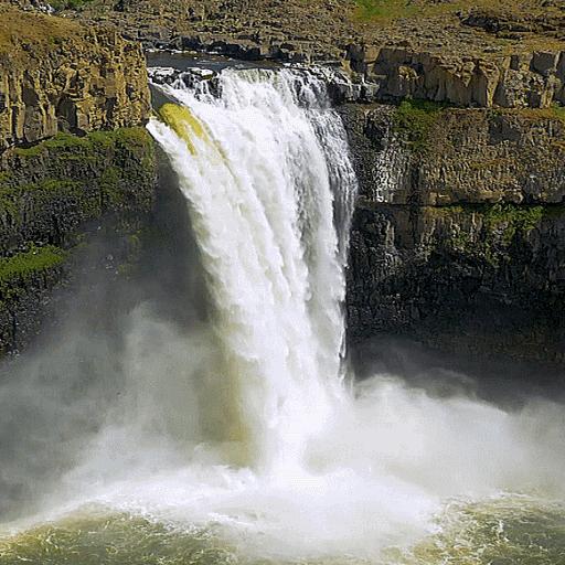 White Falls Live Wallpaper