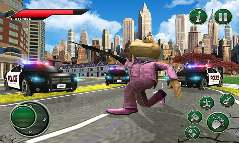 Amazing Frog Rope Hero NY City Crime Battle