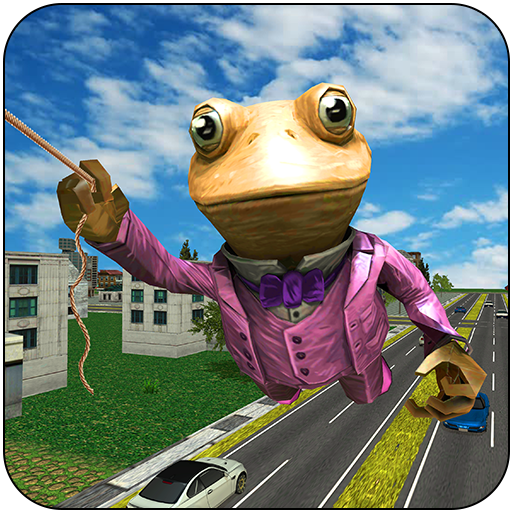 Amazing Frog Rope Hero NY City Crime Battle