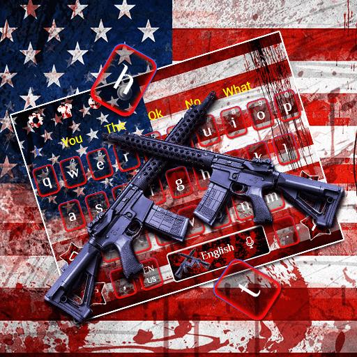 American Flag Guns Keyboard Theme