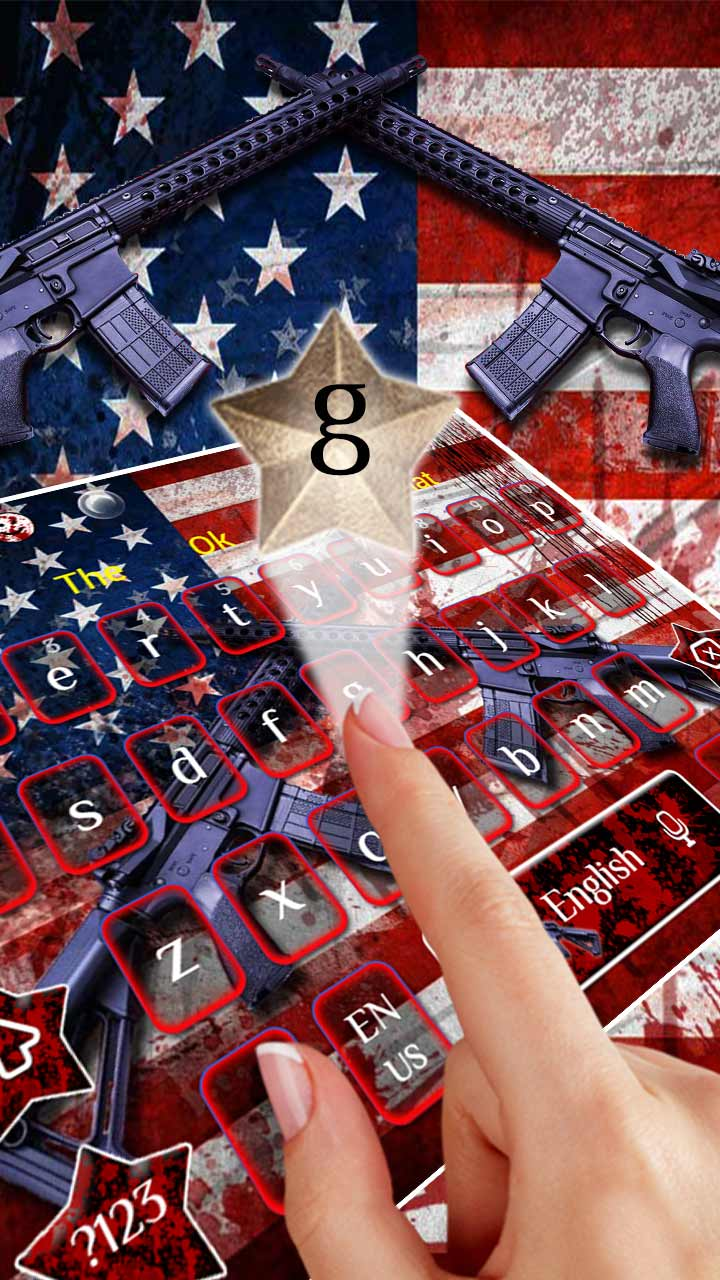American Flag Guns Keyboard Theme