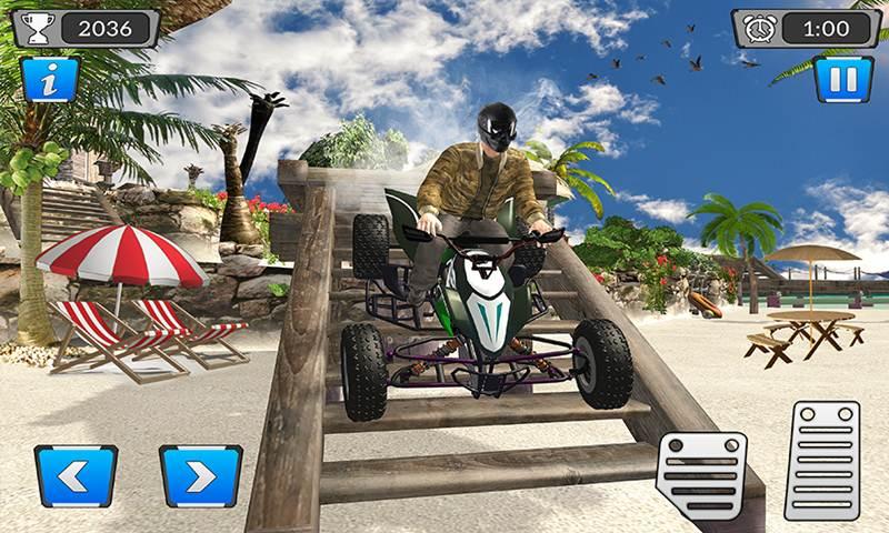 ATV Beach Quad Bike Racing Mania:Motorcycle Stunts