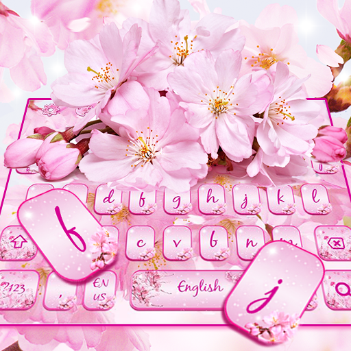 Cherry Blossom Sakura Flower Keyboard