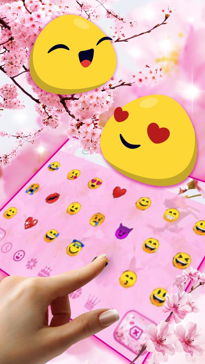 Cherry Blossom Sakura Flower Keyboard