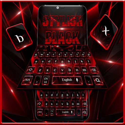 Classic Business Red Black Keyboard