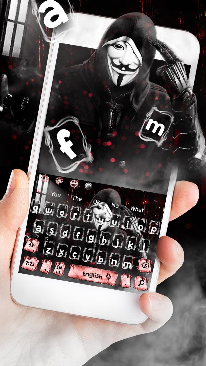 Fake Anonymous Mask Keyboard Theme
