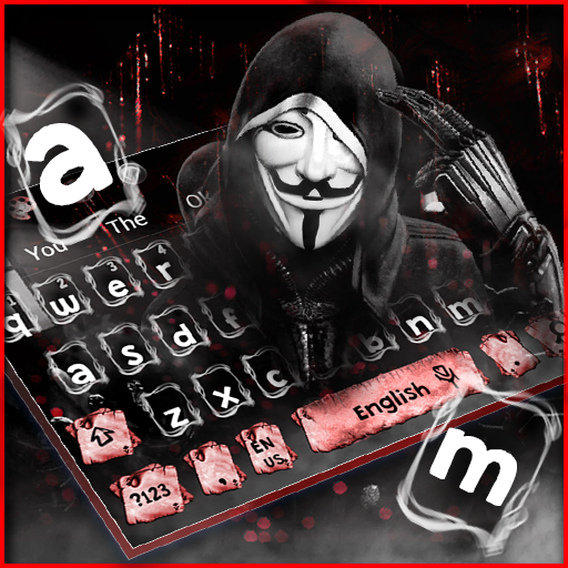 Fake Anonymous Mask Keyboard Theme