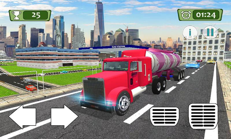 Fuel Transport Oil Tanker: City Cargo Truck Driver