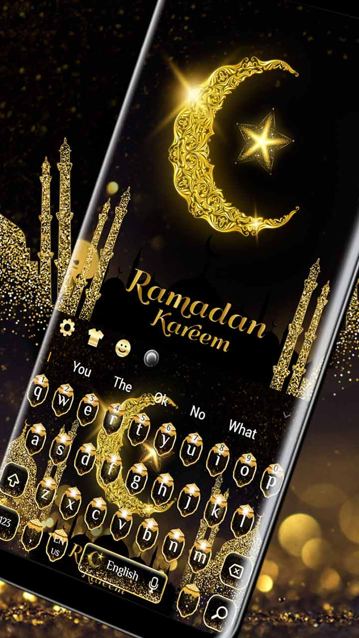 Gold Ramadan Kareem keyboard Theme