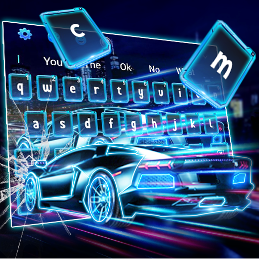 Lightning Racing Car Keyboard Theme