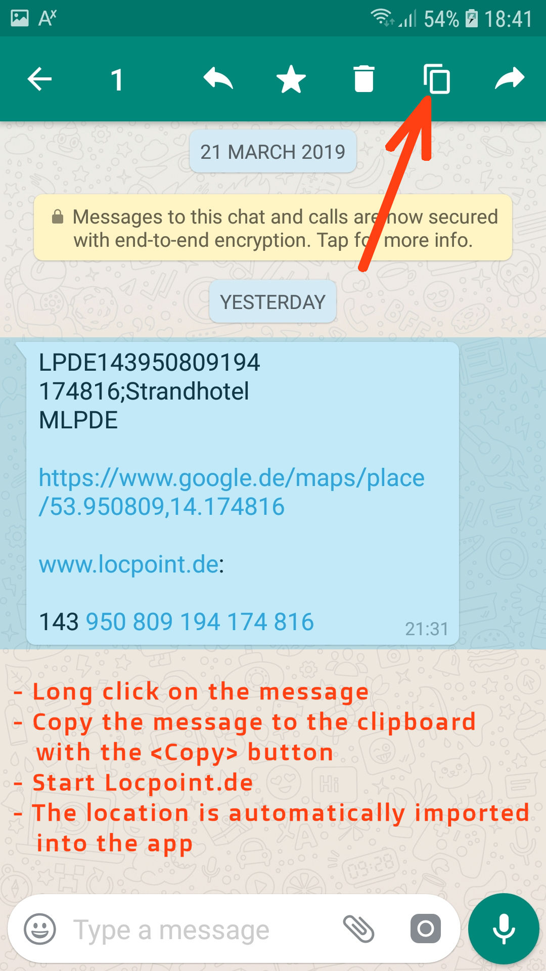 LocPoint: GPS Location unique number for sharing