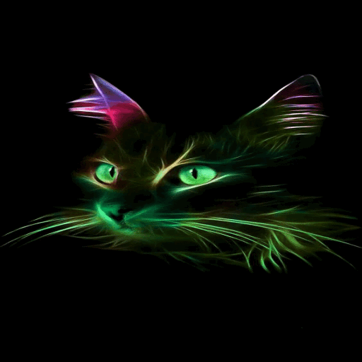 Neon Cat Live Wallpaper