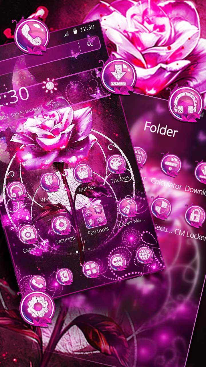 Neon Lavender Rose Theme