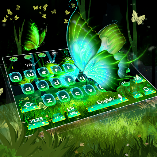 Starry Magical Forest Butterfly Keyboard