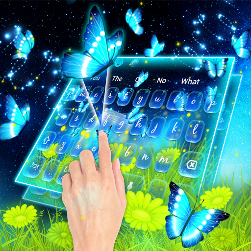 Starry Night Butterfly Keyboard Theme