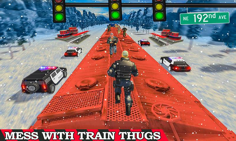 Super Police Hero Gangster Chase Train