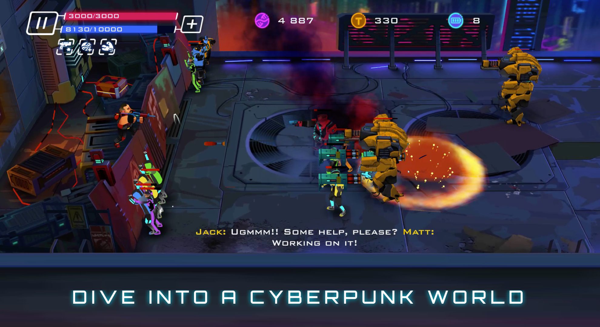 Uprising: Cyberpunk 3D Action Game