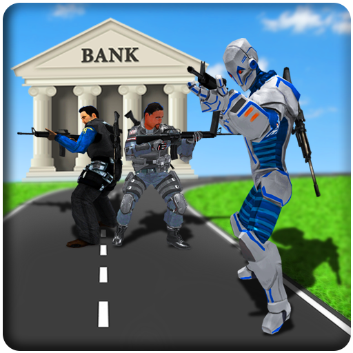 US Police Robot Bank Robbery City Crime