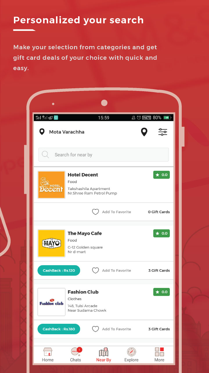 Wibrate - Local Offers & Giftcards, Earn Cashback