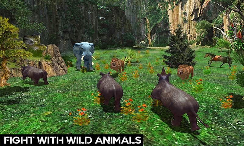 Wild Rhino Family Jungle Simulator
