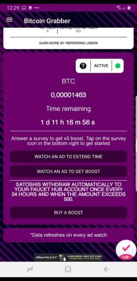 Bitcoin Grabber - Your Bitcoin Faucet