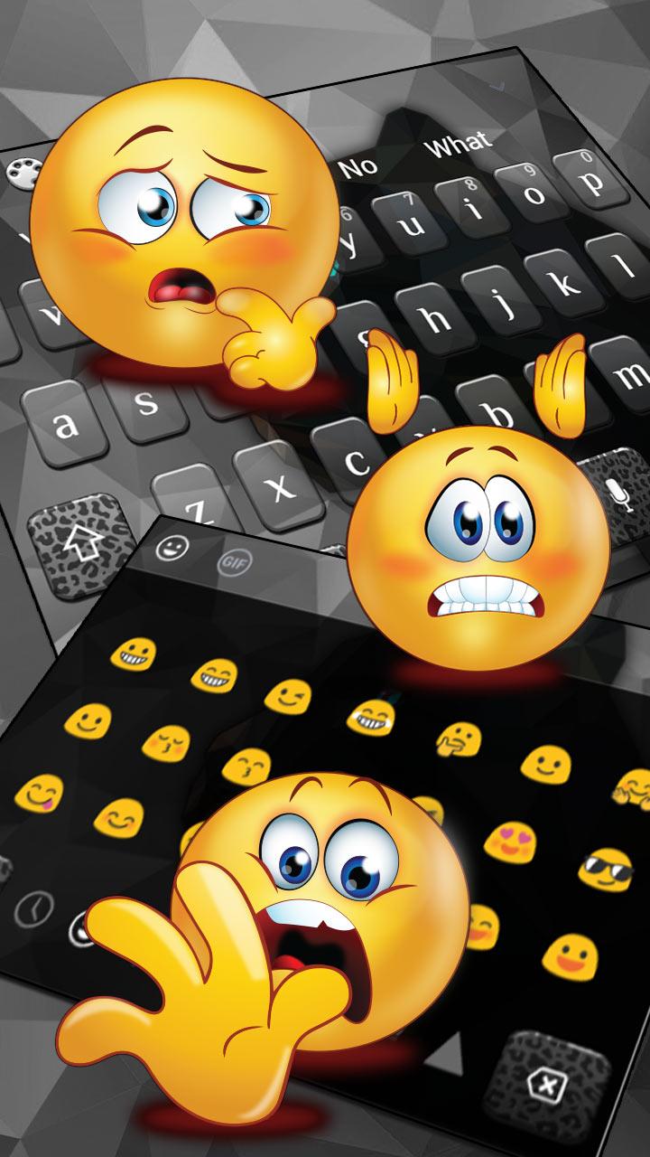 Black Polygon Panther Keyboard Theme