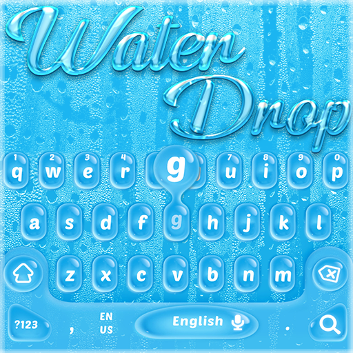 Blue Water Drop Keyboard Theme