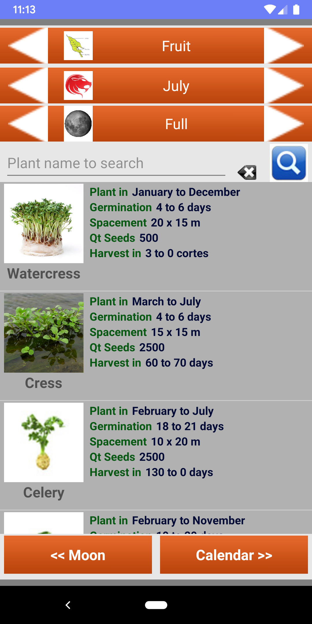 Calendario Lunar Organico