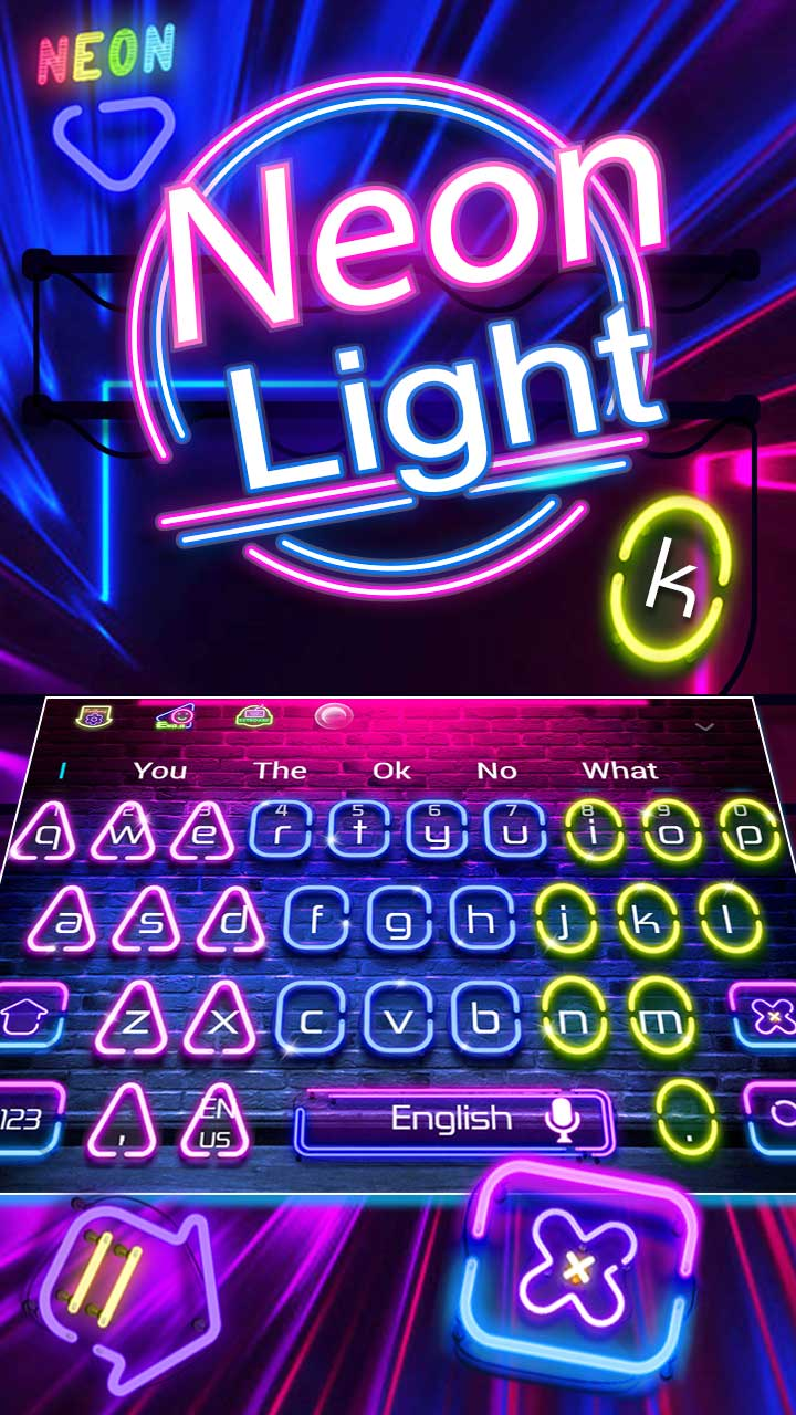 Colorful Neon LED Light Keyboard Theme