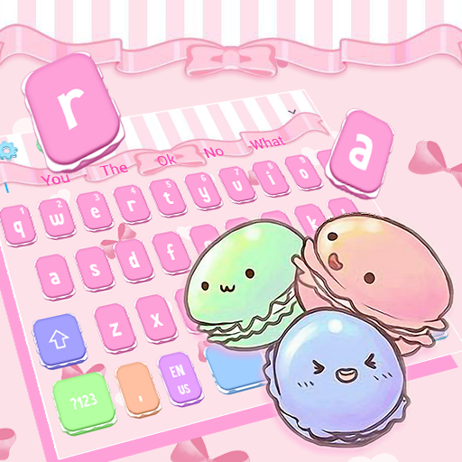 Colorful Tasty Macaroon Keyboard Theme