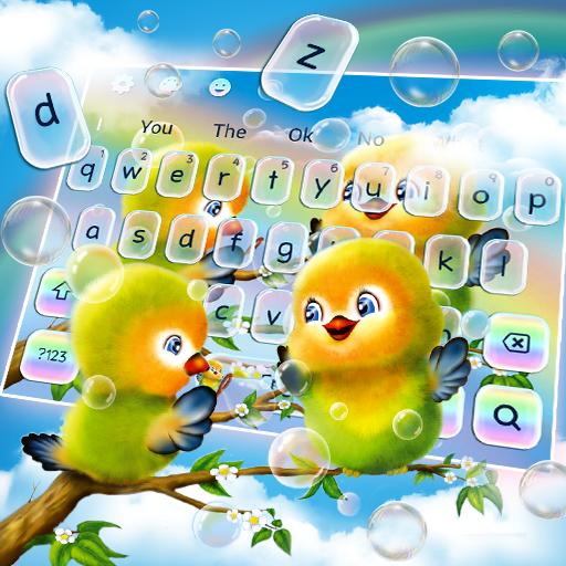 Cute Animated Love Birds Keyboard