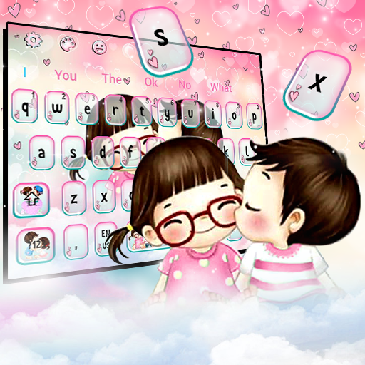 Cute Anime Couple Keyboard Theme